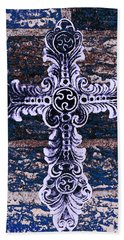 Ornate Cross 2 Beach Sheet