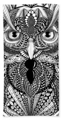 Ornate Owl Beach Towel