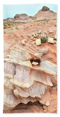 Beach Towel featuring the photograph Ornate Rock In Wash 4 Of Valley Of Fire by Ray Mathis