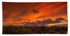 Beach Towel featuring the photograph Oro Valley Sunset H6 by Mark Myhaver