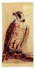 Beach Sheet featuring the pyrography Osprey 2 Pillow/bag by Ron Haist