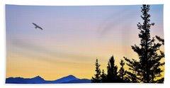 Osprey Against The Sunset Beach Sheet