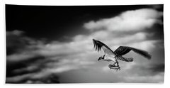 Beach Towel featuring the photograph Osprey Catch Of The Day by Chrystal Mimbs