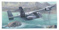 Osprey Over The Mokes Beach Sheet