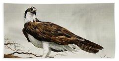 Osprey Sea Hawk Beach Towel by James Williamson