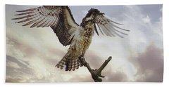 Osprey Wing Spread Beach Sheet