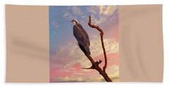 Osprey With Branch Beach Towel