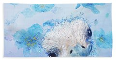 Ostrich In A Field Of Poppies Beach Towel