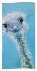 Ostrich Painting Beach Sheet