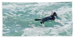 Otter At Montana De Oro Beach Towel by Michael Rock