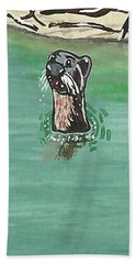 Otter In Amazon River Beach Towel