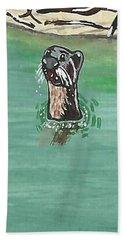 Otter In Amazon River Beach Towel