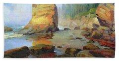 Otter Rock Beach Beach Towel
