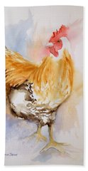 Our Buff Rooster  Beach Towel
