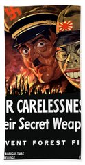 Our Carelessness - Their Secret Weapon Beach Towel