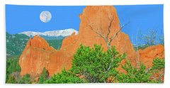 Our Majestic, Opalescent Colorado, Like No Other Place On Earth Beach Towel by Bijan Pirnia