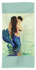 Beach Towel featuring the painting Our Treasured Love by Leslie Allen