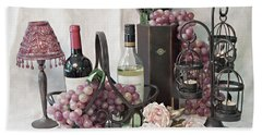 Beach Towel featuring the photograph Our Wine Cellar by Sherry Hallemeier
