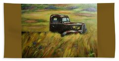 Out To Pasture Beach Towel by Gail Kirtz