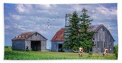 Beach Towel featuring the photograph Out To Pasture by Mary Timman