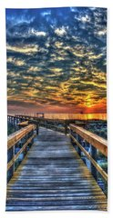 Beach Towel featuring the photograph Out To Sea Tybee Island Georgia Art by Reid Callaway