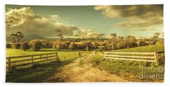 Outback Country Paddock Beach Towel