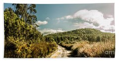 Outback Country Road Panorama Beach Towel
