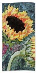Outdoor Sunflowers Beach Towel