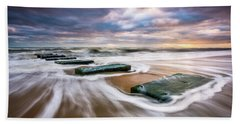 Outer Banks North Carolina Beach Sunrise Seascape Photography Obx Nags Head Nc Beach Sheet