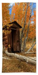 Outhouse In The Aspens Beach Towel by James Eddy