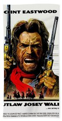 Outlaw Josey Wales The Beach Towel by Movie Poster Prints