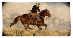 Outlaw Kelly Western Art By Kaylyn Franks Beach Towel