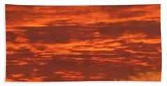 Outrageous Orange Sunrise Beach Towel