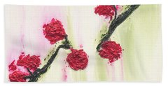 Beach Towel featuring the painting S R R Seeks Same by Kathryn Riley Parker