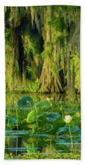 Outstanding Lotus Beach Towel
