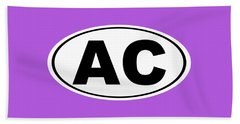 Oval Ac Atlantic City New Jersey Home Pride Beach Towel