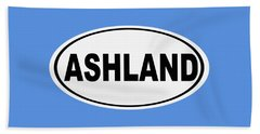 Oval Ashland Oregon Or Ohio Home Pride Beach Towel