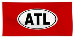 Oval Atl Atlanta Georgia Home Pride Beach Towel