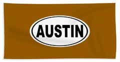 Oval Austin Texas Home Pride Beach Sheet