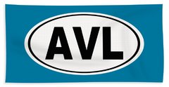 Beach Towel featuring the photograph Oval Avl Asheville North Carolina Home Pride by Keith Webber Jr