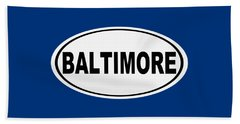 Oval Baltimore Maryland Home Pride Beach Towel