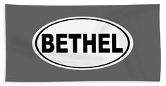 Beach Towel featuring the photograph Oval Bethel Connecticut Home Prid by Keith Webber Jr