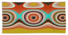 Ovals And Circles Pattern Design Beach Towel