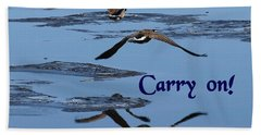 Over Icy Waters Carry On Beach Towel by DeeLon Merritt