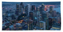 Over Seattle A Beautiful Downtown Beach Towel