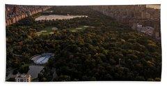 Over The City Central Park Beach Towel
