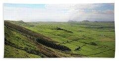 Over The Rim On Terceira Island, The Azores Beach Sheet