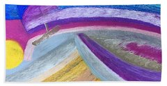 Over The Waves Beach Towel