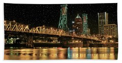 Over The Willamette Under The Stars Beach Towel