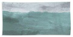 Overcast- Art By Linda Woods Beach Towel